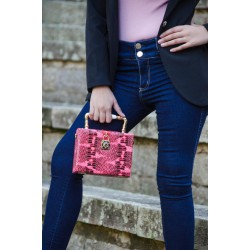 Bolso rectangular rosa